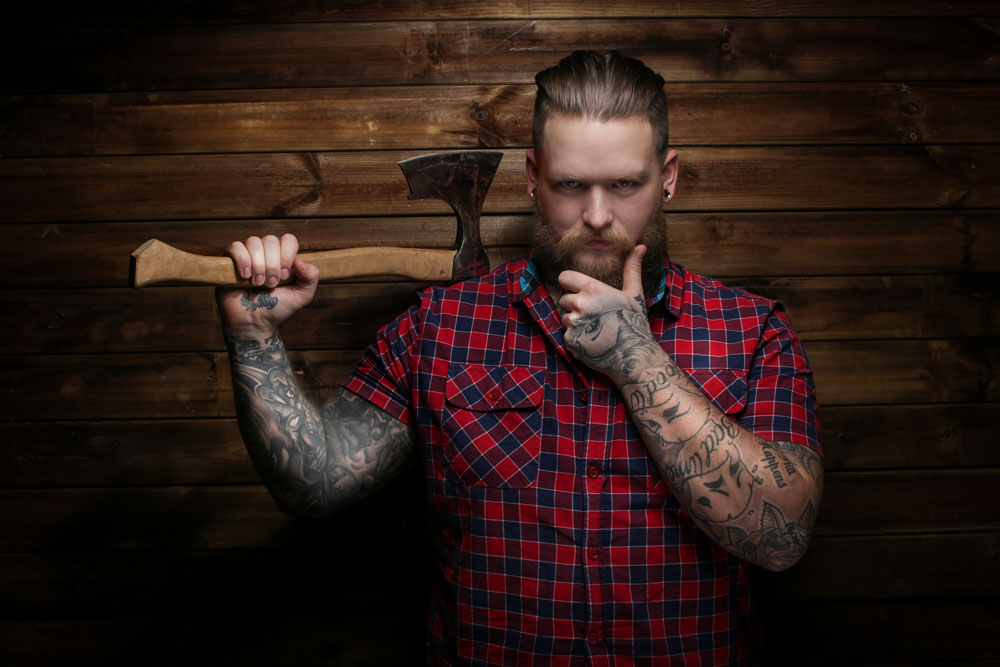 Man Holding Axe - things to do in idaho falls